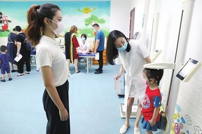 全区7000名儿童入园体检