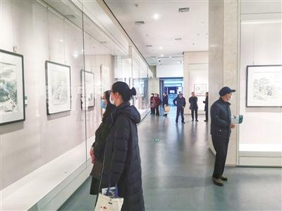 150幅田园山水画在江海博物馆展出